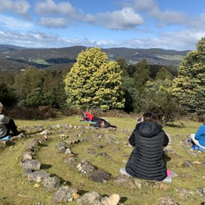 forest bathing at a hobart health retreat