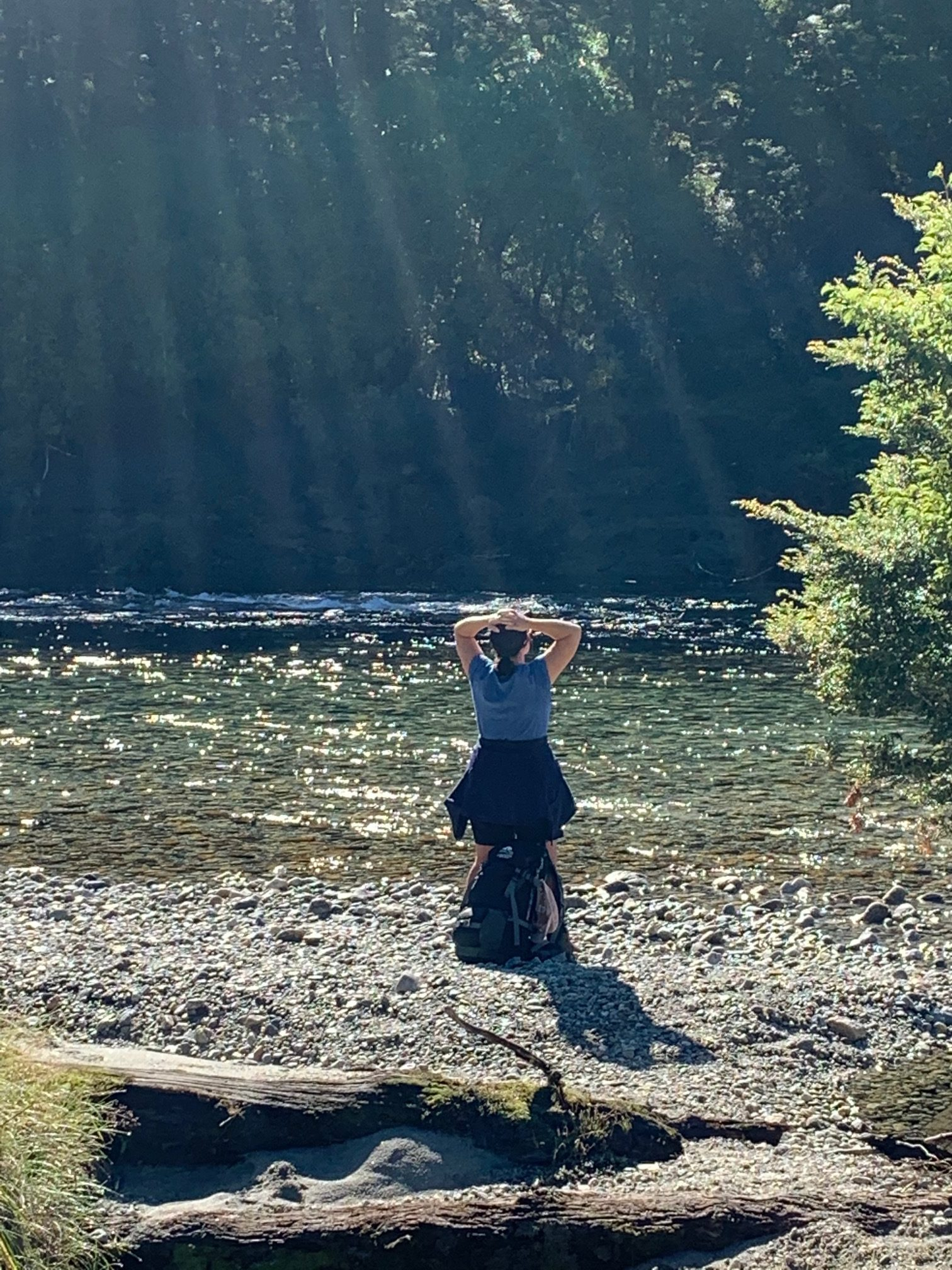 woman mindful in nature