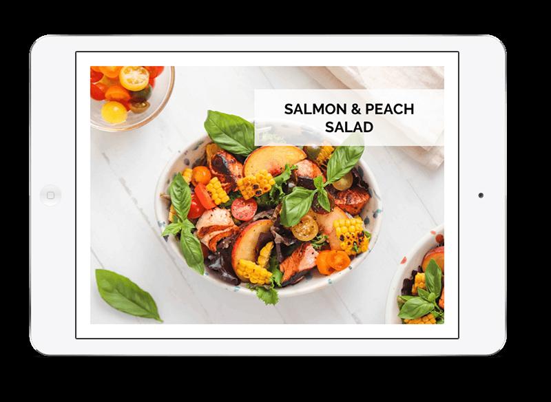 image of salmon-peach-salad