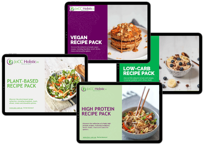 healthy recipes included in eating for energy and zing with jo cc holistic pt hobart